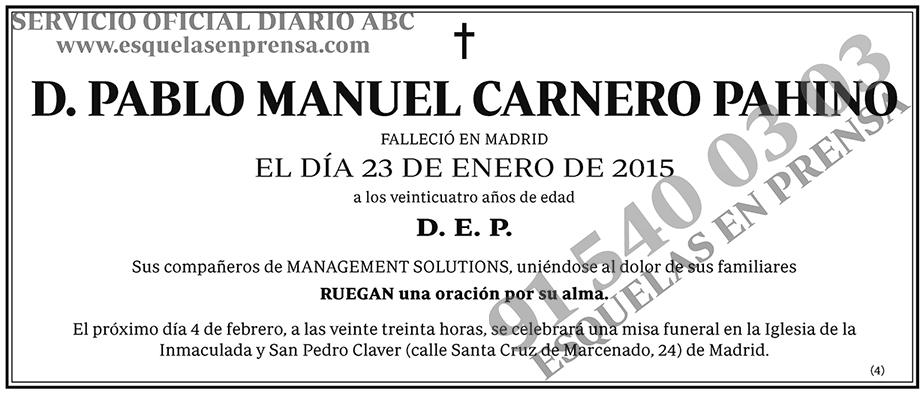 Pablo Manuel Carnero Pahino